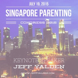 Jeff Yalden was the featured Keynote Speaker for the Singapore Parenting Congress Conference on July 19, 2015 in Singapore.